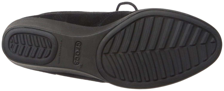 Crocs Women's Leigh Suede 6.5 Wedge Shootie Boot B01A6LLIGW 6.5 Suede B(M) US|Black ed32b7
