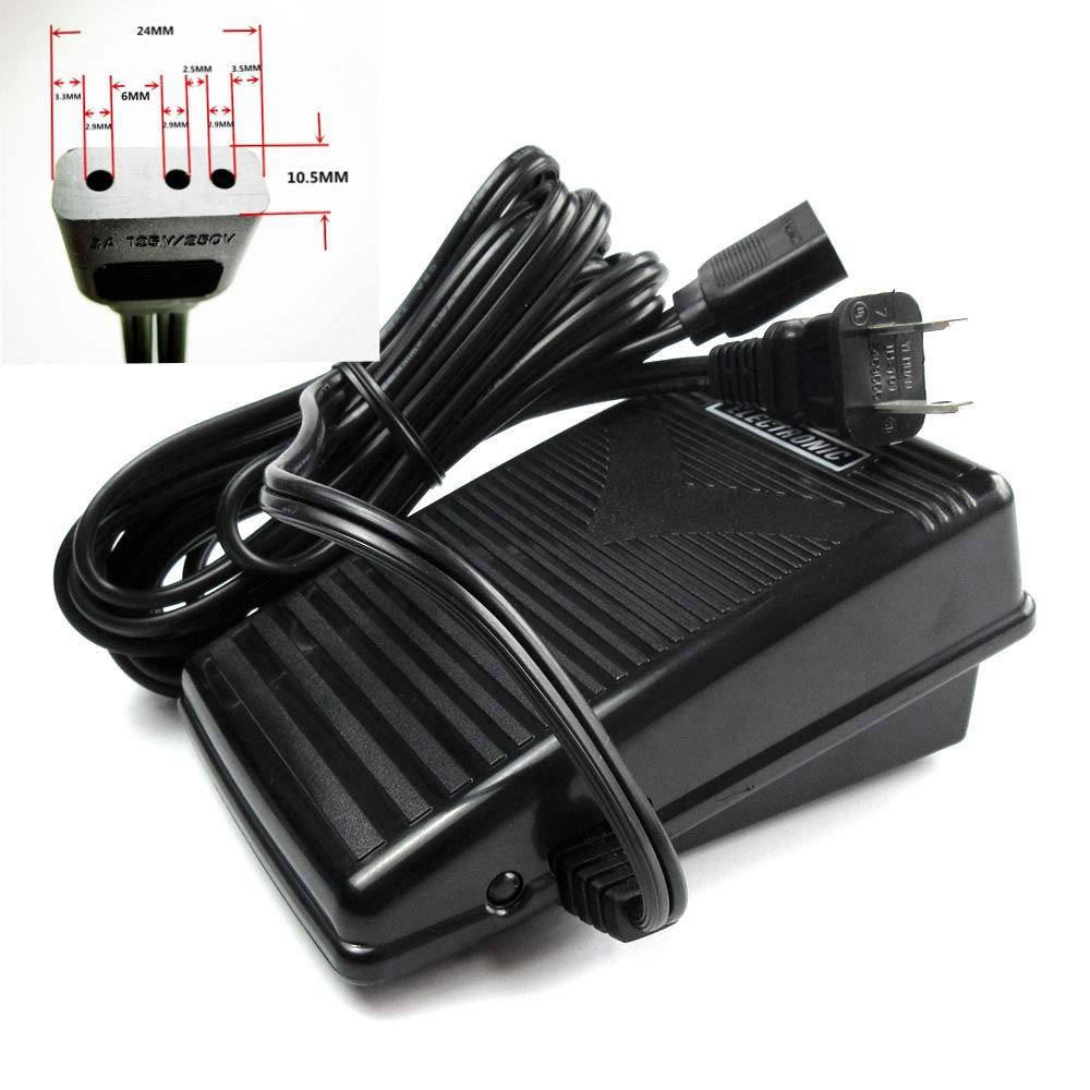 Speed Foot Control Pedal with Cord # 032270116 for 110V Kenmore 148 13101, 158 17812, 385 1788180+ by evernice