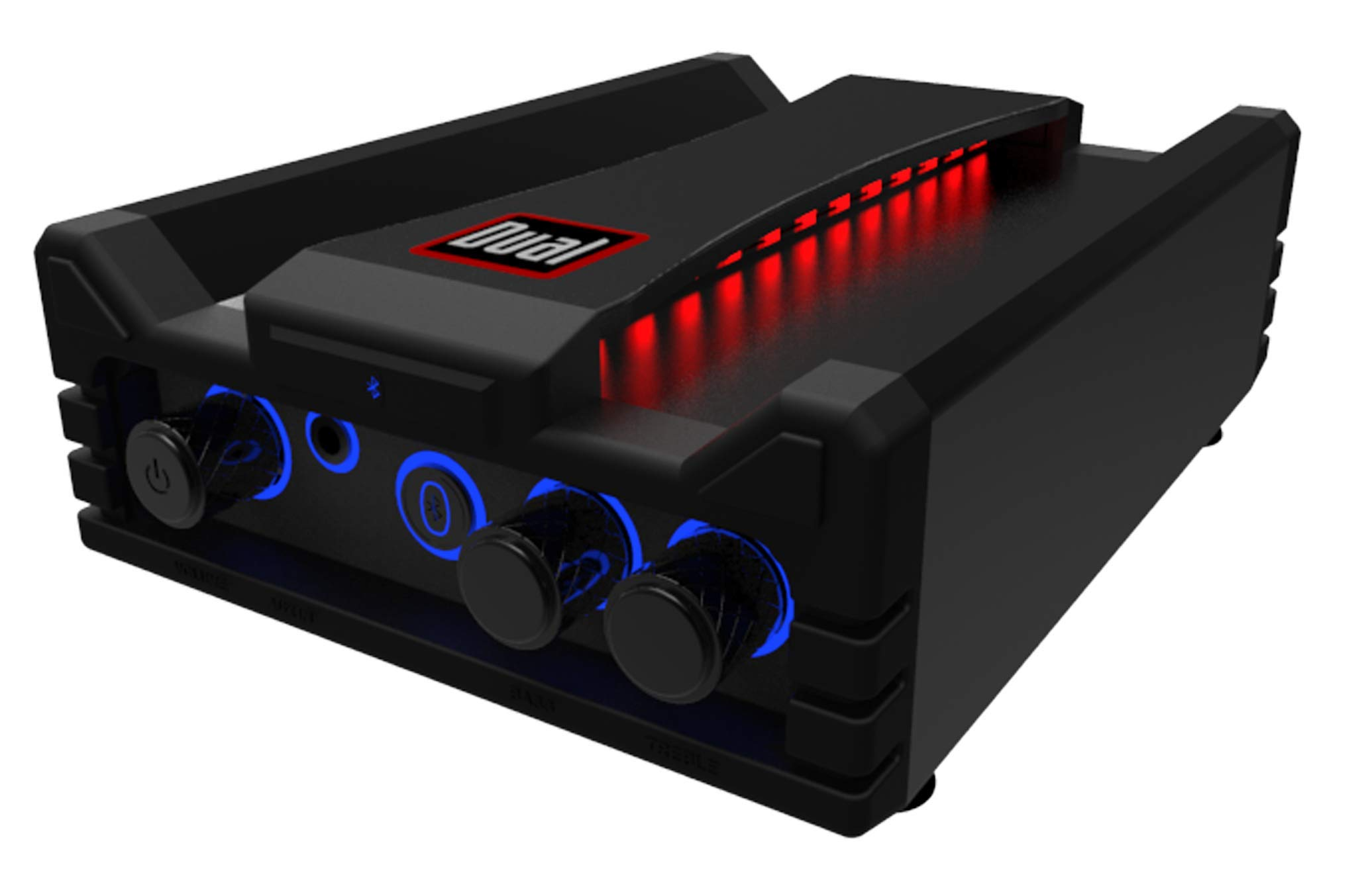 Dual Electronics DBTMA100 Micro Wireless Bluetooth 2 Channel Stereo Class-D Amplifier with | Universal Plug-In | Stereo RCA Outputs | 100 Watts Peak Power | 100ft of extended Wireless Bluetooth Range by Dual Electronics