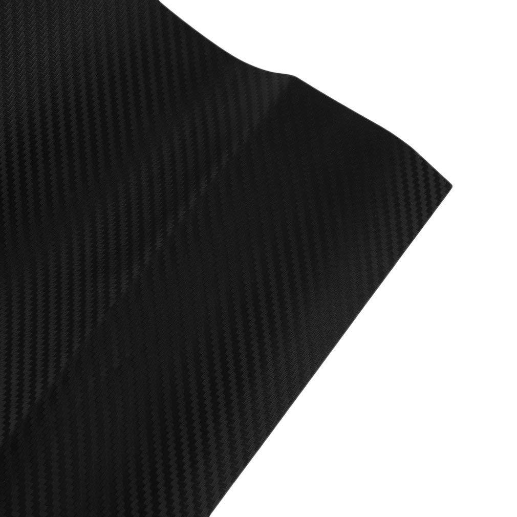 Autocollants Footprintse Styling Autocollant de Voiture en Fibre de Carbone 3D en Vinyle pour Voiture et Moto et Feuille de Papier pour Voiture Noir 128 cm x 30,5 cm