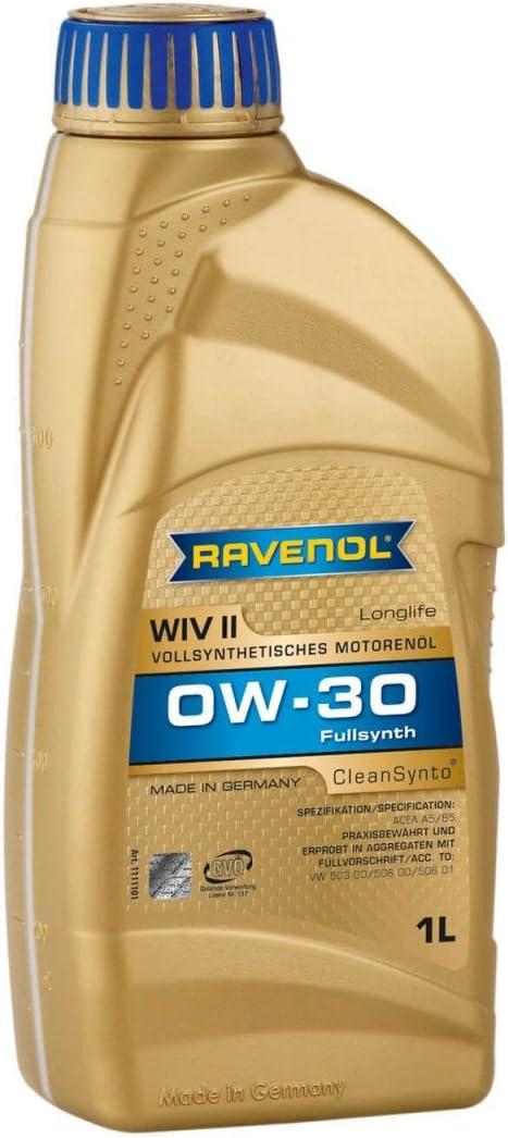 Ravenol Wiv Sae 0w 30 0w30 Vollsynthetisches Motoröl Longlife 1 Liter Auto