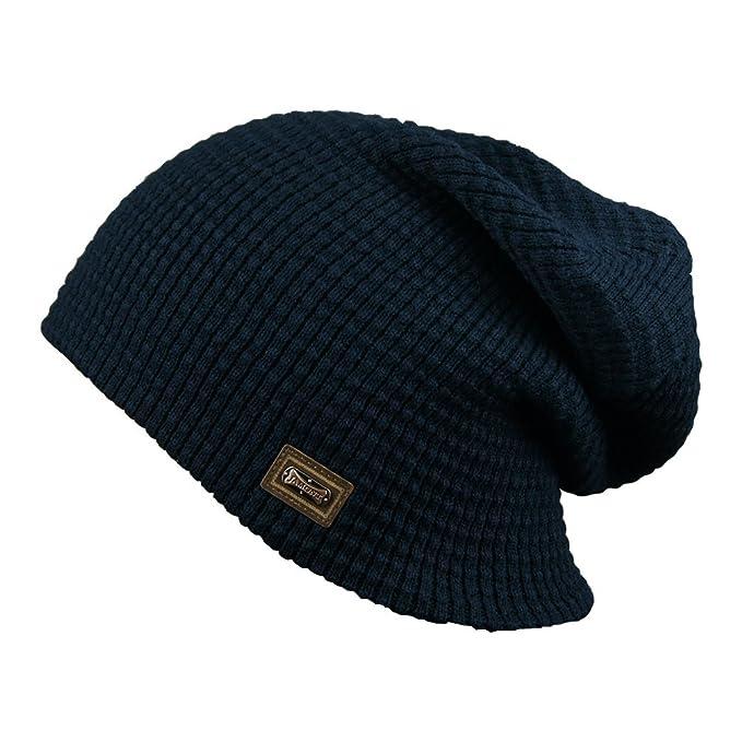 JAMONT - Berretto in maglia - Uomo  0365 Dark Blue Taglia unica ... cc39a09df286