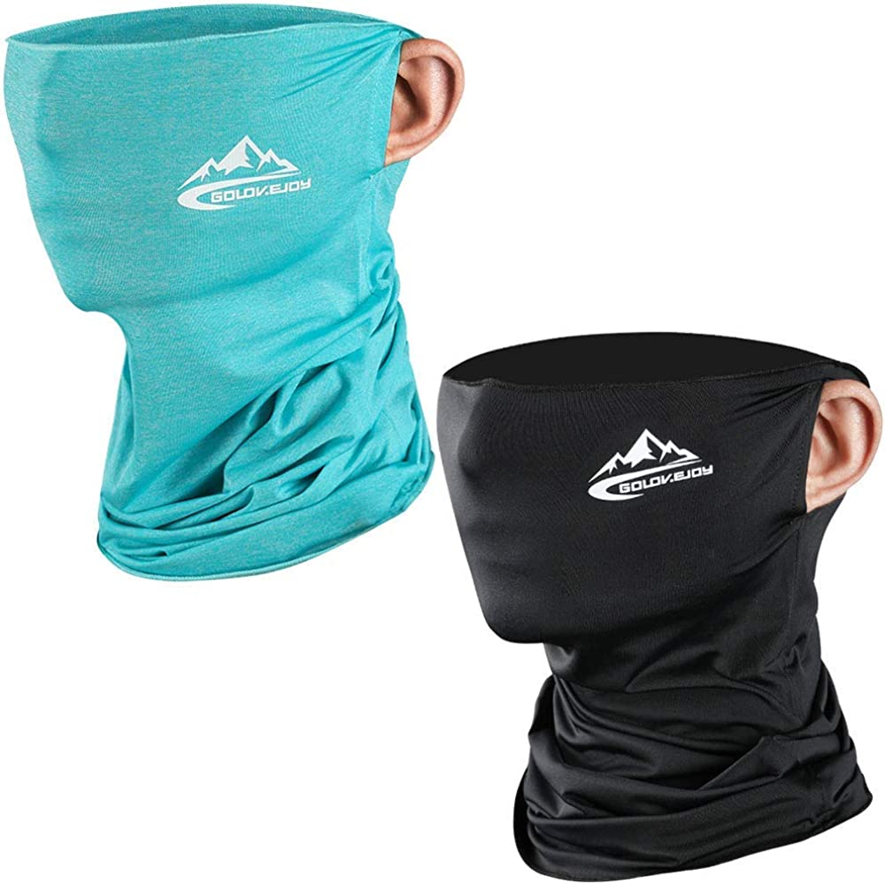 Maylisacc 2pcs Bandana Kopftuch Stretchy Hals Gamasche f/ür Herren Damen Atmungsaktive multifunktionale Sturmhaube Tube UV Schutz