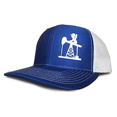 750de6a909bece Oil Field Hats Royal Blue/White PJ Cowboy Cap - FT1808 at Amazon Men's  Clothing store: