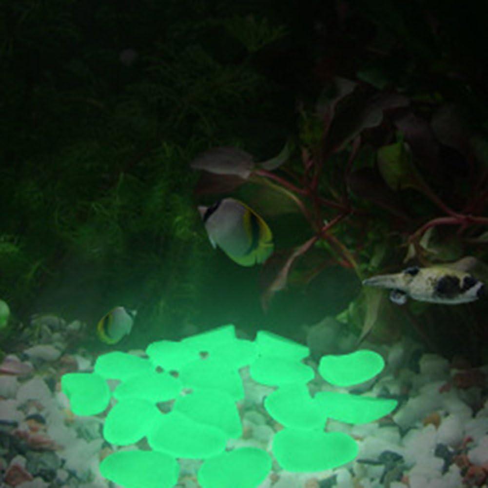 100x Glow In The Dark Stones Pebbles Rock Aquarium Fish Tank Garden WalkYNUK