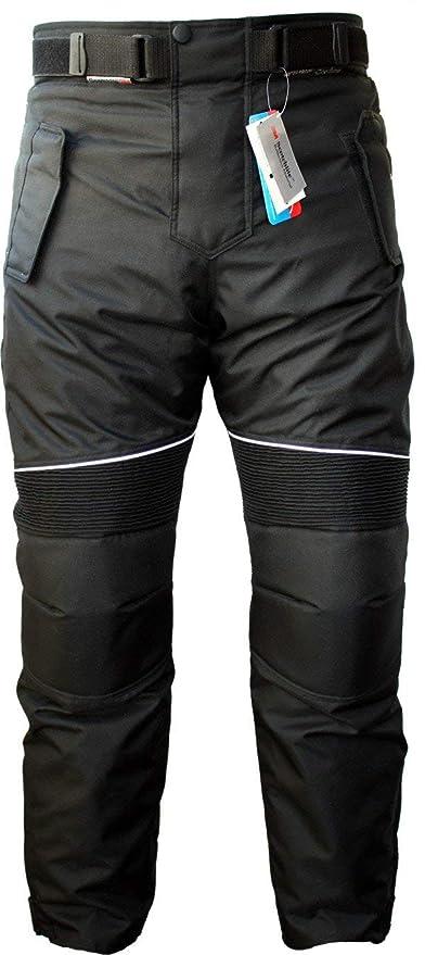German Wear GW350T - Pantalones de Moto, Negro, 54 EU/XL: Tamaño de la cintura - 104 cm