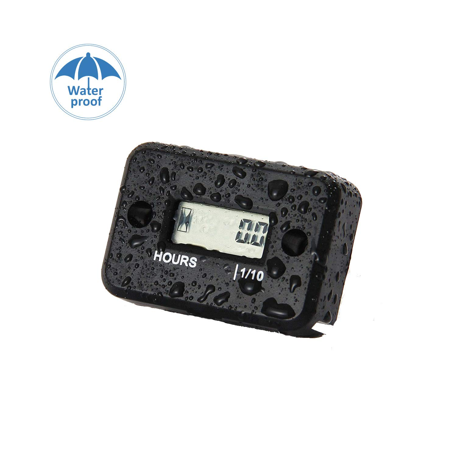 ETbotu Digital LCD Counter Hour Meter for Motorcycle Instruments ATV Snowmobile Marine Boat