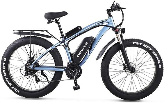 GUNAI Bicicletas Electricas Neumaticos Bicicleta 26 Pulgada 1000w 48V 17AH Bateria Litio Frenos de Disco Bicicleta Bicicleta de montaña(Azul): Amazon.es: Deportes y aire libre