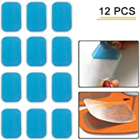 flyword Abs Replacement Pads,Electric Muscle Stimulation Training Gear and Fat Burning Massage Device Trainer Replacement Gel Sheet Accessories 12pcs Gel Sheets For Gel Pad (2pcs/packs, 6packs/Sets)