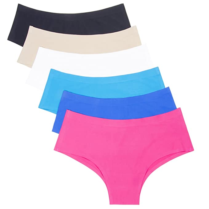 bbc76bbb3c87 ANZERMIX Women's Seamless Laser Cut Brief Panties Pack of 6 at Amazon  Women's Clothing store: