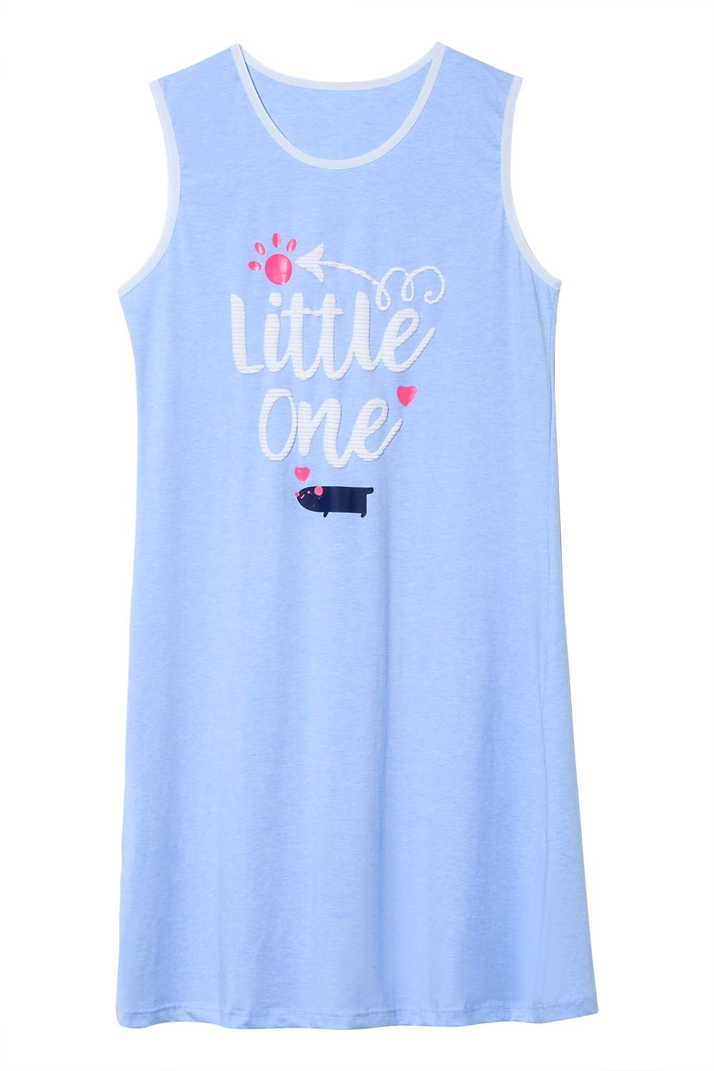 Jashe Big Girls 95% Colored Cotton Nightgowns Sleeveless Pajama Sleepwear for Tween Girls