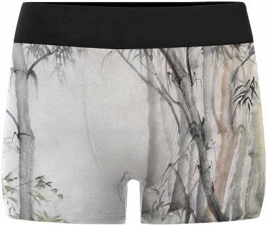 XS-3XL INTERESTPRINT Custom Mens All-Over Print Boxer Briefs Bamboo Forest