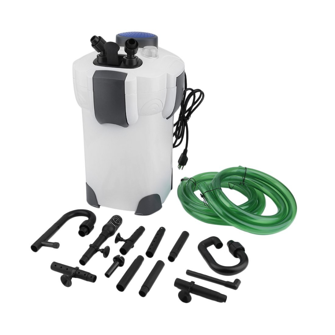 Professional 200 Gallon Aquarium Fish Tank External Canister Filter & Media Kits Self Priming With 4 Stage Filtration Formulatwoo