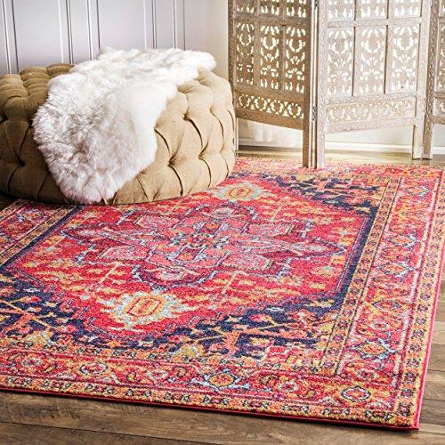(nuLOOM Persian Vonda Area Rug, 3' x 5', Pink)
