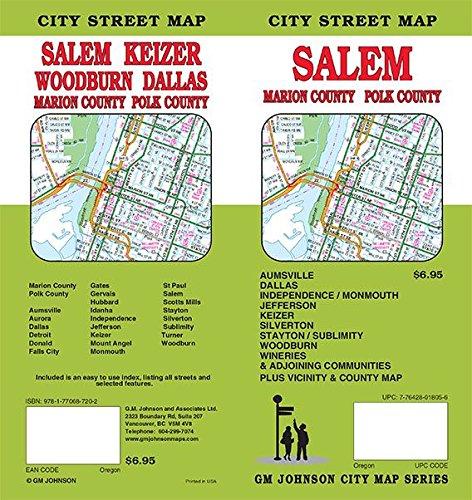 Salem / Marion & Polk Counties, Oregon Street Map