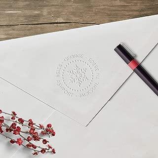 product image for Three Designing Women Custom Address Embosser - The World's Only Designer Embosser Brand (Snowflake)