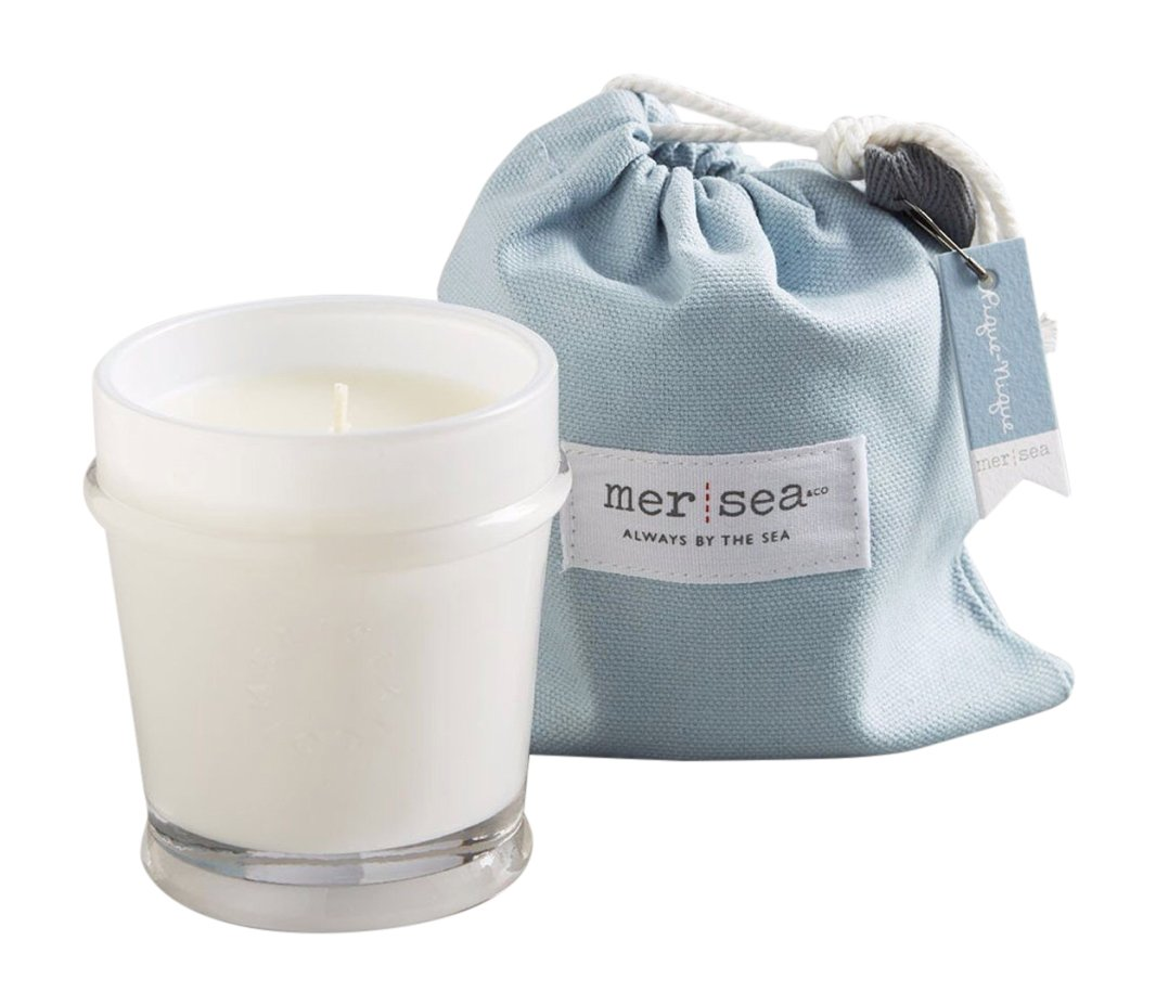 MER SEA & CO Luxury Scented Candle with Sandbag - Pique-Nique - 7 Oz (45+ Hour Burn) - SIZE ✓ 7 Ounces; BURN TIME ✓ 45+ hours HAND-POURED in USA ✓ Glass candle PREMIUM FRAGRANCES ✓ [Floral] Jasmine, rose, lily mixed with garden greens followed by coconut, apple and wood round out this fragrant French floral; the sound of surf and the ever present ambiance of a fresh bouquet of flowers is the inspiration for this scent. - living-room-decor, living-room, candles - 615c6KGyygL -