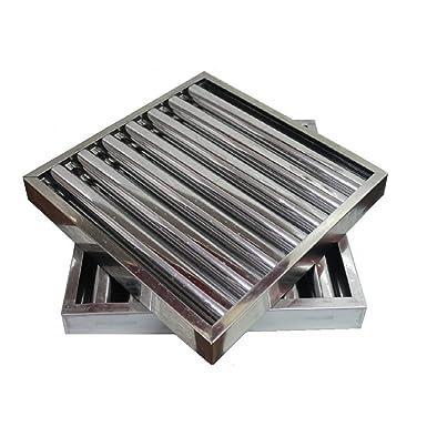 Filtro lamas acero inox campana extractora bar industrial 49 x 49 x 5 cm.: Amazon.es: Industria, empresas y ciencia