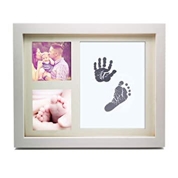 Amazoncom Baby Handprint And Footprint Photo Frame Kit Best