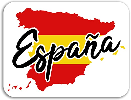 2 x 10 cm España Mapa de vinilo pegatinas - Bandera Viajes ...