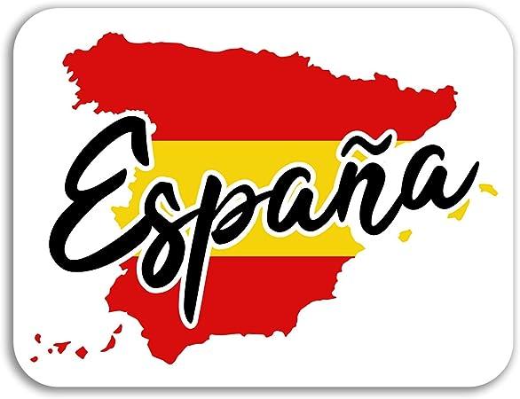 2 x 10 cm España Mapa de vinilo pegatinas - Bandera Viajes etiqueta de equipaje portátil # 17087 (10 cm de ancho): Amazon.es: Hogar