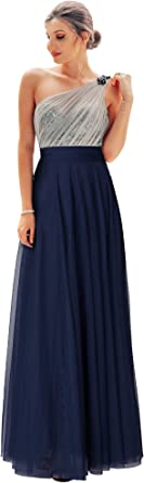 Ever-Pretty Women Fashion Sequins Floor Length Single Shoulder Bridesmaid Dresses 07404