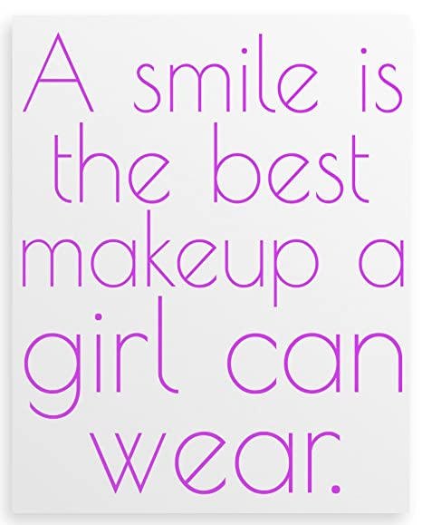 A Smile Is The Best Makeup A Girl Can Wear Canvas Print 12x16