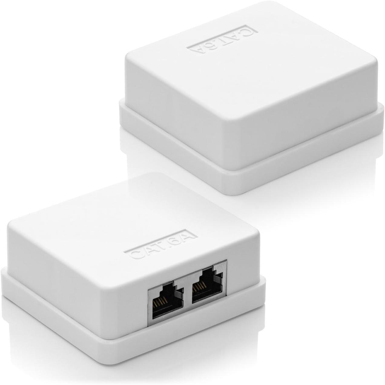 deleyCON 3X Cat 6a Superficie RJ45 2X Puertos Conector de Red Blindados FTP 10 Gbit Ethernet LAN Cable de Conexión: Amazon.es: Electrónica