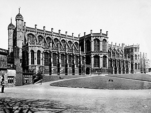 - England Windsor Castle Nview Of St GeorgeS Chapel At Windsor Castle The British Royal Residence At Windsor England Photographed C1900 Poster Print by (18 x 24)