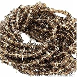 One Starnd Natural Smokey Topaz Chip Beads, 34 Inch Full Strand, Wholesale Price. (CHST-70001) by Gem Mart Usa