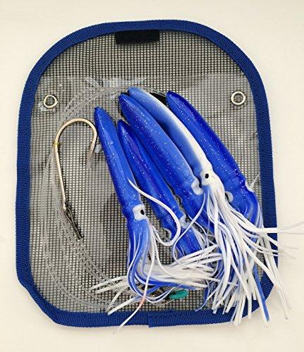 Shell Squid Daisy Chain – Blue/White – 1pc – w/Single Lure Bag – Item # 220