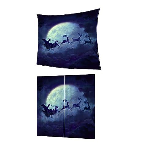 Gazechimp Weihnachtsthemen Polyester Decke mit Wohnzimmer Vorhang ...