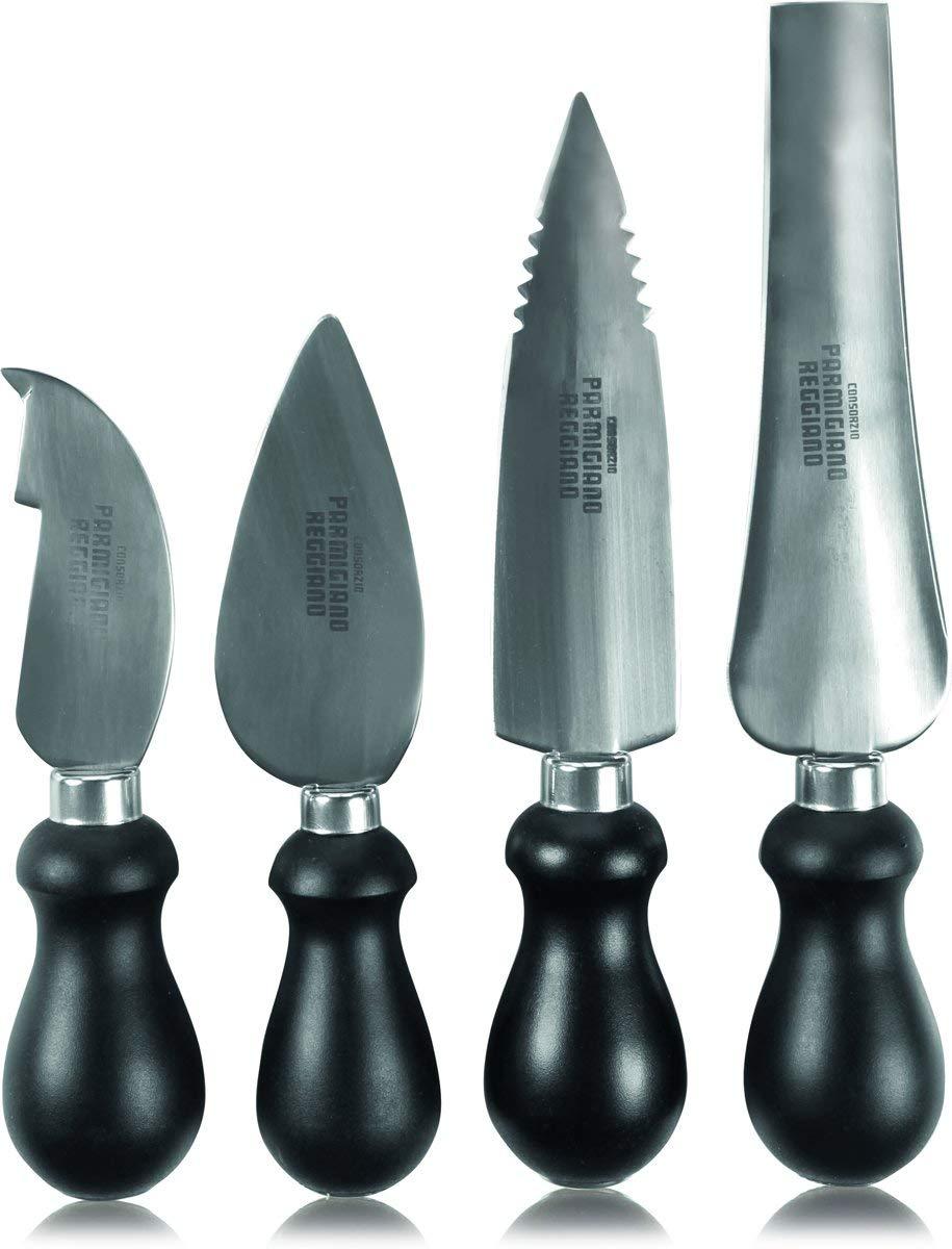 Boska Holland 990553 Parm Cheese Knife Set, Compact, Black by Boska Holland