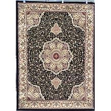 Avalon 0214 Black 5x7 Area Rugs Carpet Traditional Persian