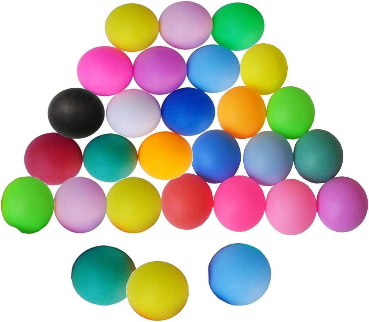 mengger Pelotas de Ping Pong Tenis Mesa Bolas de Lotería Cerveza 30 Piezas Bolas Entrenamiento en Series Torneo Juegos para Adultos y Niños Color al Azar Ping-Pong Pelota