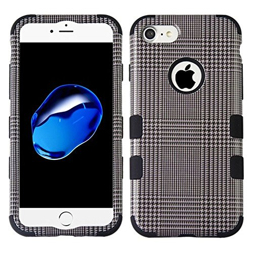 iPhone 7/8 Case, Mybat Tuff Blazer Dual Layer [Shock Absorbing] Protection Hybrid PC/Silicone Case Cover For Apple iPhone 7/8, (Gray Hybrid)