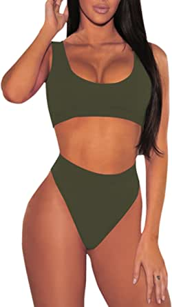 Hot Pink High Waist Cheeky Bikini and Underwire  Bikini Top XS-2XL
