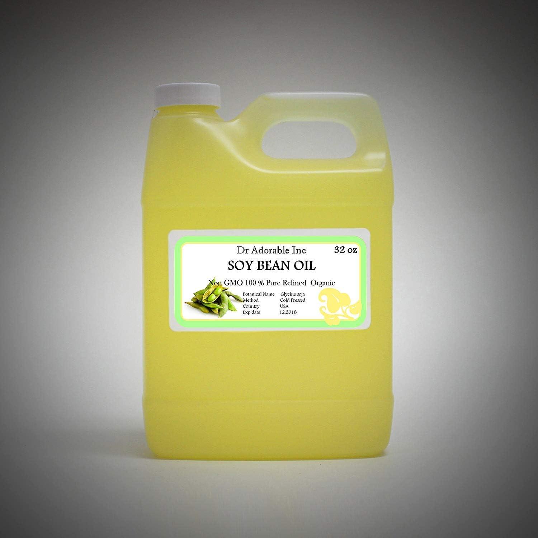 Aceite de soja puro suave al frío, orgánico prensado en frío, 32 oz/1 quart