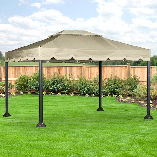 10 X 12 Garden House Gazebo Replacement Canopy - RipLock 350