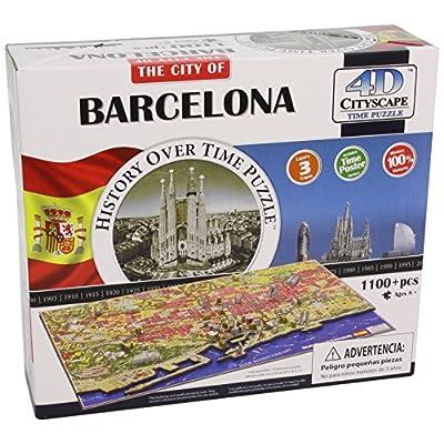 4d Cityscape Time Puzzle Barcellona Inglese Giocattolo 4 Giu 2014