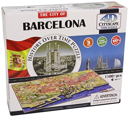 4D Cityscape Barcelona, Spain Time Puzzle from 4D Cityscape