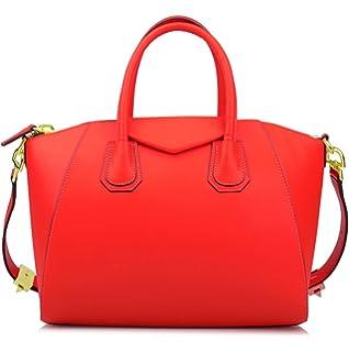 98b91194e9 Ainifeel Women s Genuine Leather Everyday Purse Top Handle Handbags  Shoulder Bags