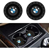 "SOONDAR 2Pcs Car Interior Anti Slip Cup Mat for BMW 1 3 5 7 Series F30 F35 320li 316i X1 X3 X4 X5 X6 (2.75"")"