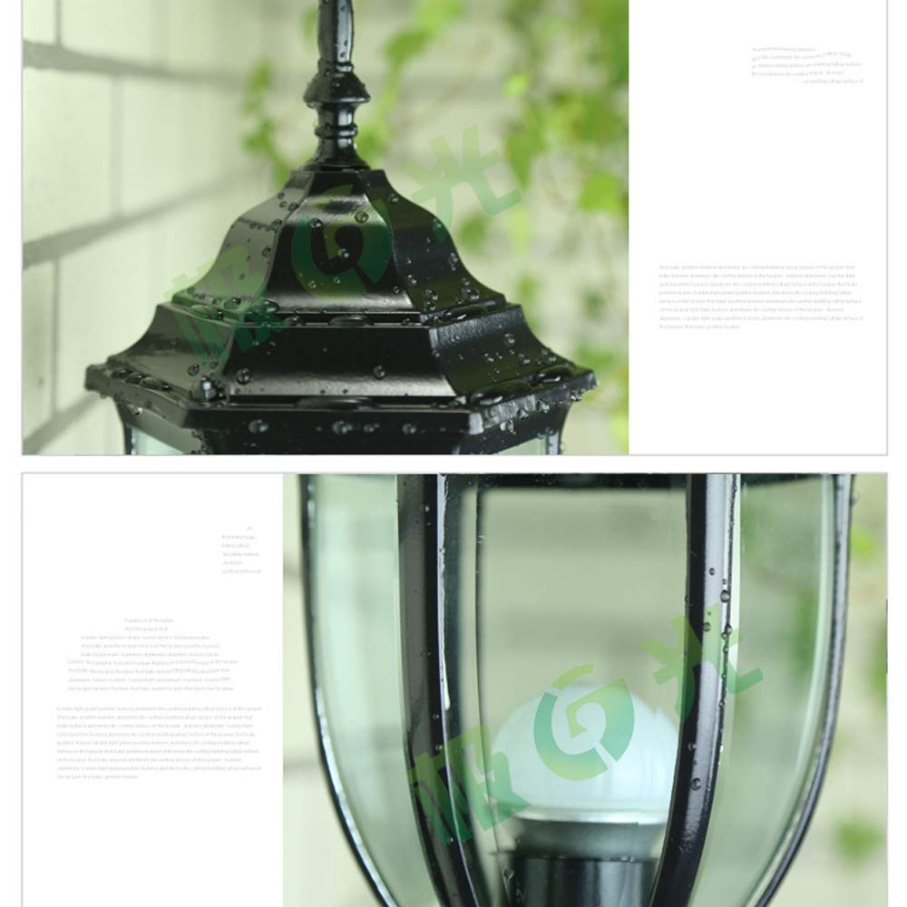 Amazon.com: HDMY Classic Aluminum Alloy E27 Column Headlight Fence Courtyard Lawn Light European Outdoor Waterproof Exterior Wall Pillar Lamp Garden ...