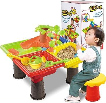 ZMH Mesa de Arena y Agua para niños, Juego de Juguetes de Playa para niños pequeños
