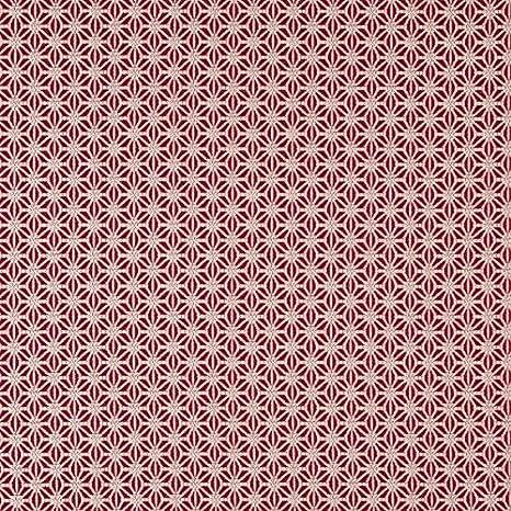 Tela ignífuga para muebles, diseño abstracto, color rojo ...