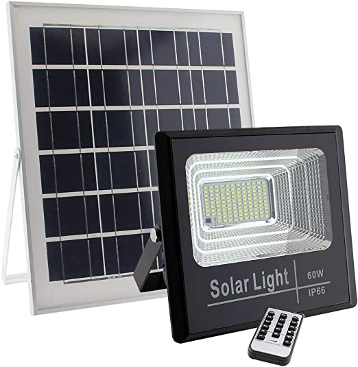 Foco Proyector LED SOLAR exterior DIGIT 60W, Blanco frío ...