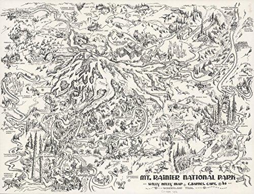 (Map Poster - Mt. Rainier National Park. - 24