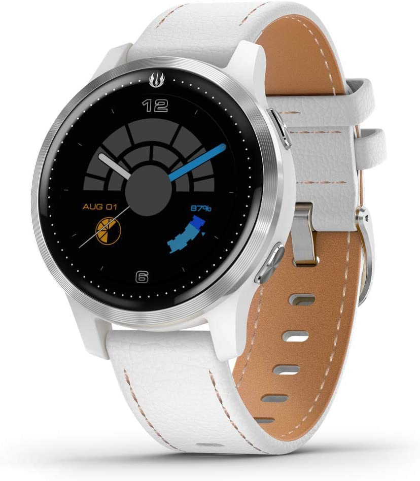 Garmin Legacy Saga Series, Star Wars Rey Inspired Premium Smartwatch, Features Jedi White Elements, Includes a Rey Inspired App Experience