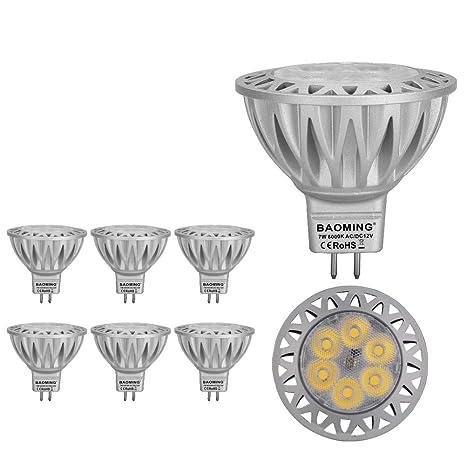 BAOMING MR16 12V GU5.3 Socket, Bombilla LED 7 Watt Lámpara, Aluminio,